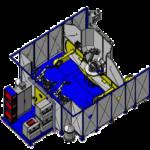 Cellule 3 robots (L3000 - D1200 - 1000KG) ACG Automatismes