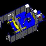 Cellule 1 robot (L2000 - D1200 - 1000KG) ACG Automatismes